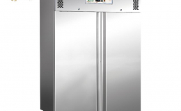 Ventilated refrigerated double door cabinet with electric defrosting GN1410