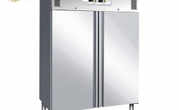 Ventilated refrigerated double door cabinet with electric defrosting GNV1200DT