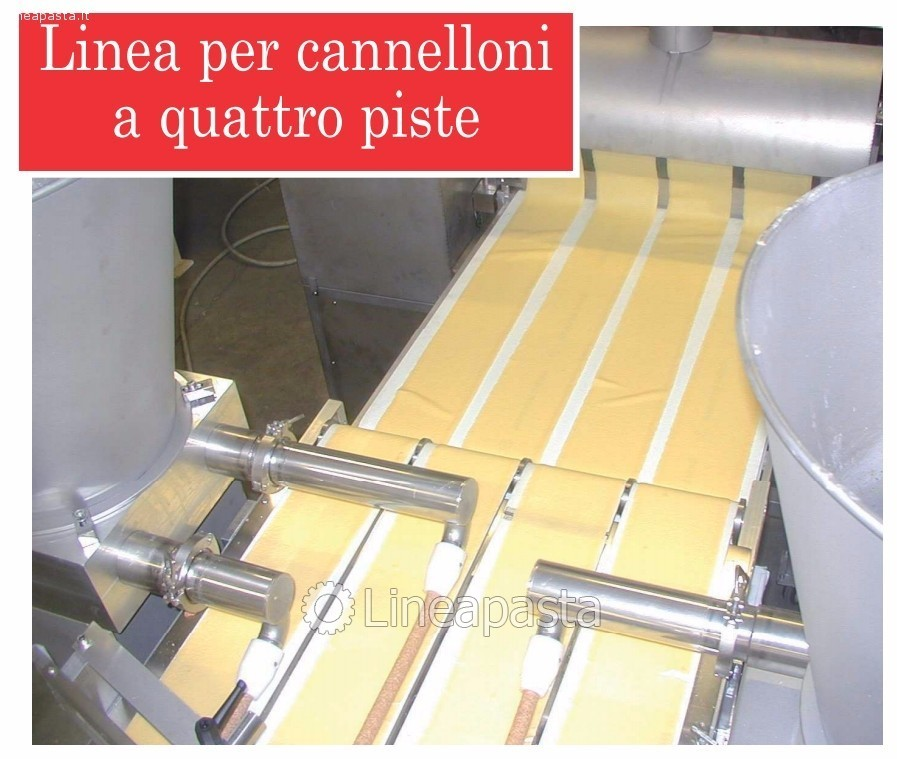 Cannelloni machine with 4 heads - La Monferrina