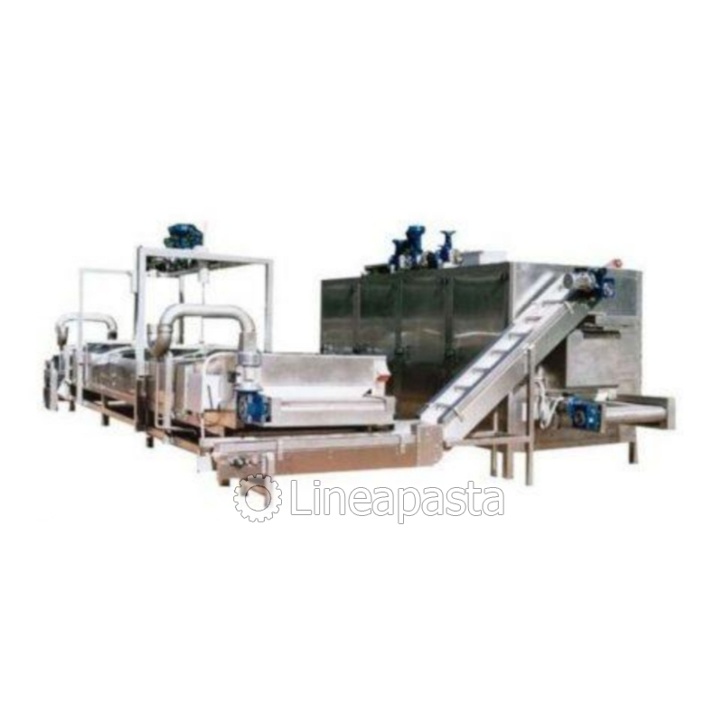 Complete line for fresh pasta pasteurization 250/300 kg/h