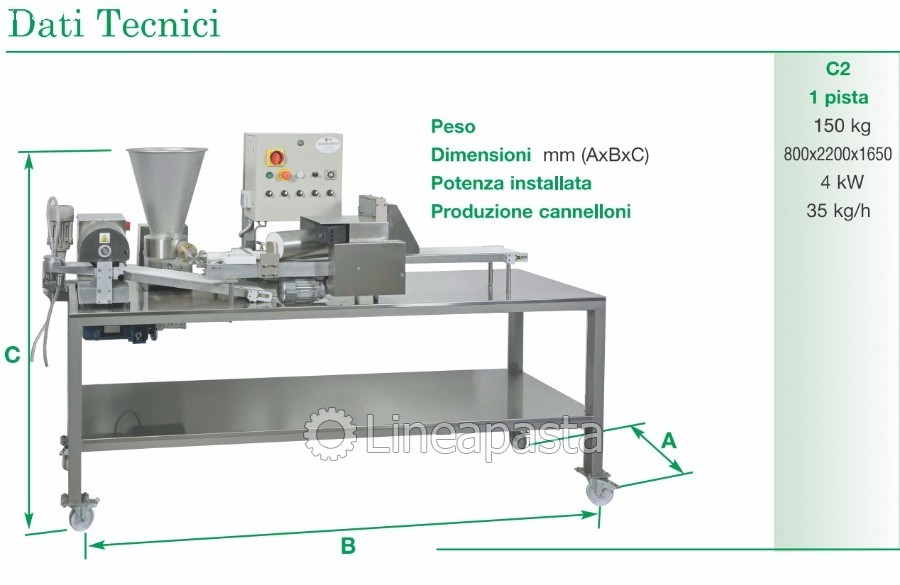 Cannelloni machine C2 - La Monferrina
