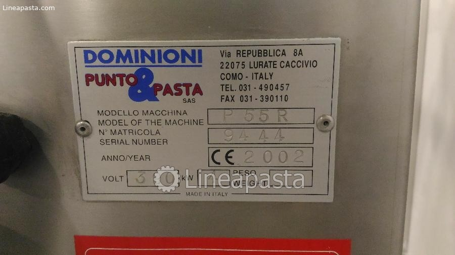 Combined press/ravioli machine Mod. EP/55R DV - Dominioni