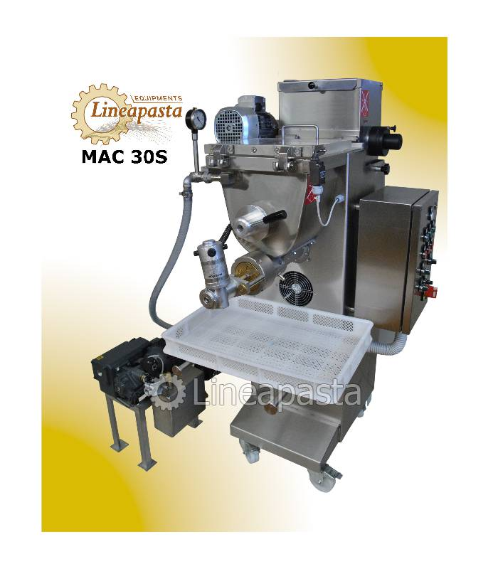Fresh pasta machine with double vat and vacuum MAC 30S