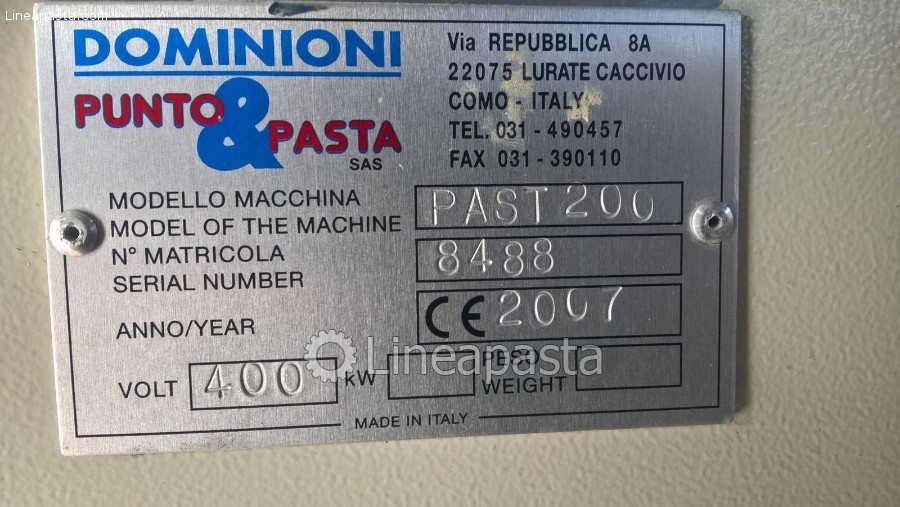 Pasteurizer Dominioni PAST200