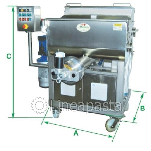 Double vat pasta machine P200 - La Monferrina